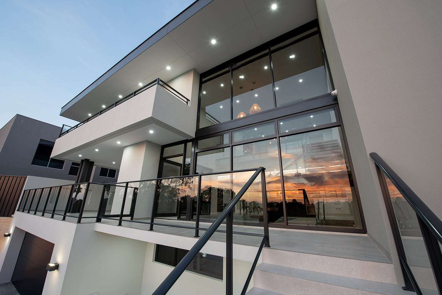 Floor to ceiling Jason Commercial Windows create a striking elevation